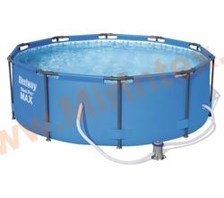 Bestway Бассейн каркасный круглый Steel Pro Max 305х100 см (фильтр-насос 1240 л/ч)
