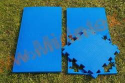 """Будо-мат """"С креплением ласточкин хвост"""" 50х50х2,0см (Синий)"""