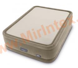 Надувные кровати INTEX PremAire ThermaLux Airbed 152х203х51 см (с встроенным насосом 220В)