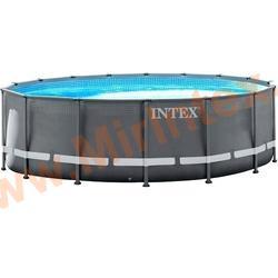 INTEX Бассейн каркасный круглый Ultra XTR Frame Pools 610х122 см (песчаный фильтр-насос 8 куб/ч, лестница, тент, настил)