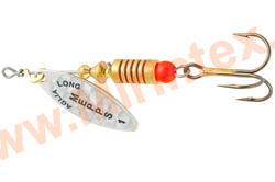Mepps Блесна Aglia Long Rainbo AG (серебро) №1 (4,5г)