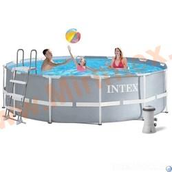 INTEX Каркасный бассейн Prism Frame 305х99см, фил.-насос 2006л\ч, лестница
