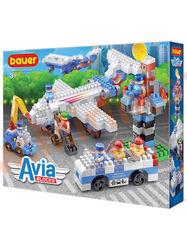 """Bauer Детский конструктор Avia набор """"пассажирский лайнер, автобус, сервисный автомобиль и КДП"""""""