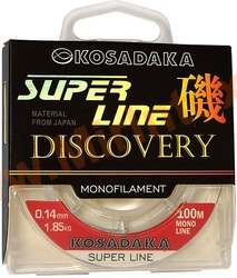 Kosadaka Леска Super Line Discovery 100m/0.14mm/1.85kg (прозрачная)