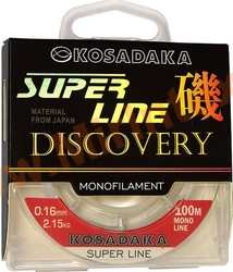 Kosadaka Леска Super Line Discovery 100m/0.16mm/2.15kg (прозрачная)