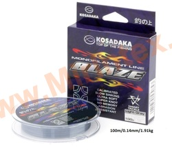 Kosadaka Леска монофильная Blaze 100 м/0,14 мм/1.91kg