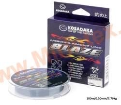 Kosadaka Леска монофильная Blaze 100 м/0,30 мм/7.79kg