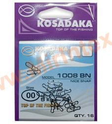 Kosadaka Карабин-застежка «Nice snap» #00 (тест 5kg)16 шт.