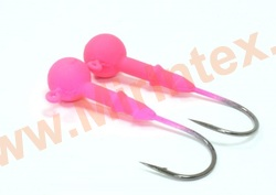 Kosadaka Джиг-головка вольфрам 1.8 г. №1/0 pink (3 шт.)