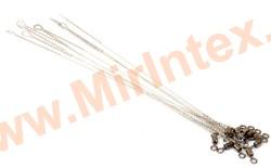 Контакт Поводок струна с вертлюжком № 2 STR 25 см. /0.4 мм./ 15 кг.
