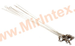 Контакт Поводок струна с вертлюжком № 2 STR 30 см. /0.4 мм./ 15 кг.