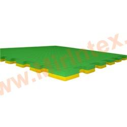 """""""ЭкоПром"""" Татами для единоборств эко 100х100х2,5 см, Желтый/зеленый"""