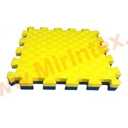 """""""ЭкоПром"""" Татами для единоборств эко 100х100х2,5 см, Желтый/синий"""
