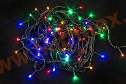 Гирлянда светодиодная 6 м. (100 ламп) цветная