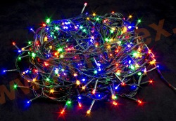 Гирлянда нить светодиодная 18 м. 200 ламп (цветная)