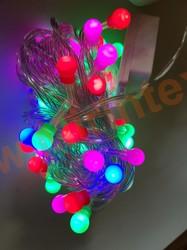 Гирлянда шарики 10 мм (10 м/72шт.) цветная