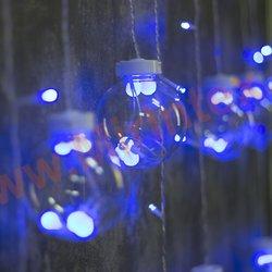 Гирлянда светодиодная 2,5х0.9 м. подвесные шарики (синяя)