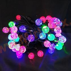 Гирлянда уличная шарики, светодиодная 10 м/60 ламп разноцветная