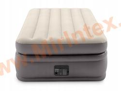 Надувные кровати INTEX Prime comfort elevated Dura-Beam Plus 99Х191Х51 см, встроенный насос 220V