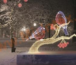Световая композиция «Снегири»
