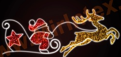 Светодиодная перетяжка «Санта»