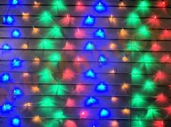 Гирлянда сетка светодиодная 2.0х1.5 м 200 ламп (цветная)
