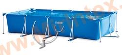 INTEX Каркасный прямоугольный бассейн 450х220х84см., фильтр-насос(картридж) 2006л\ч.