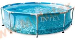 "INTEX Каркасный бассейн Metal Frame 305х76см ""Beachside""(без насос-фильтра)"