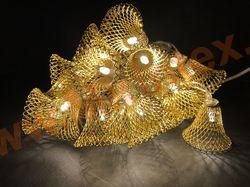 Гирлянда золотые колокольчики 35х40 мм (4м/40 Led) белый/теплый