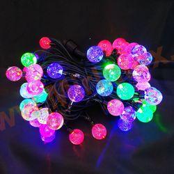 Гирлянда уличная шарики, светодиодная 8 м/60 ламп разноцветная