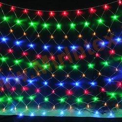 Гирлянда сетка светодиодная 1.8х1.8 м 200 ламп (цветная)