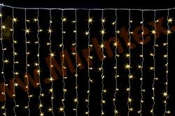 Гирлянда занавес штора светодиодная 3х3 м 560 LED 240 ламп. (цв.теплый)