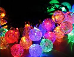 Гирлянда уличная шарики, светодиодная 10 м/50 ламп (9 режимов)
