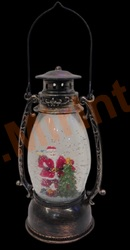 Фонарик новогодний декоративный с эффектом снегопада(свет+музыка)
