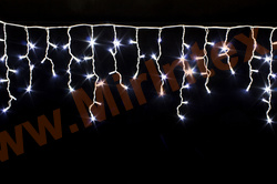 """Гирлянда уличная бахрома """"Сосулька"""" 12х0.5 м 400 ламп LED (белая/холодная)"""