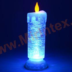 Свеча светодиодная новогодняя декоративная настольная 25 см.(белая)