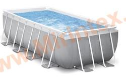 INTEX 26790 Бассейн каркасный Prism Frame, 400х200х122 см, картриджный фильтр-насос 2006 л/ч, лестница.