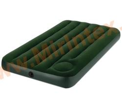 INTEX 66927 Матрас надувной Downy Twin, 99 х 191 х 22 см, со встроенным ножным насосом