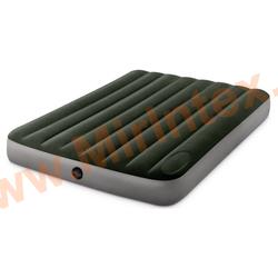 Надувные матрасы INTEX Downy Bed 137х191х22 см (со встроенным ножным насосом)