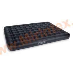 Надувные матрасы INTEX Velvet Flocked Pattern Bed 152х203х22 см (с встроенным насосом 220В)
