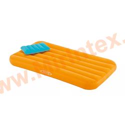 Надувные матрасы INTEX Детский с подушкой 88х157х18 см (оранжевый)