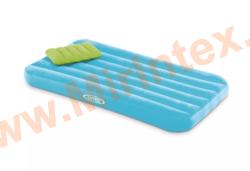 Надувные матрасы INTEX Детский с подушкой 88х157х18 см (голубой)