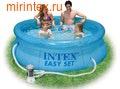INTEX Бассейн надувной Clearview 244х76см (с фильтр-насосом 220 В)