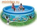 INTEX Бассейн надувной Ocean Reef 305х76см (с фильтр-насосом 220 В)
