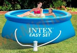 INTEX Бассейн надувной 244х76см (с фильтр-насосом 220 В)