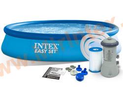 INTEX 28132 Бассейн надувной 366х76см (с картриджным фильтр-насосом 220 В)
