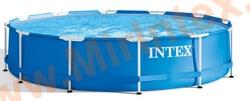 INTEX Бассейн каркасный круглый Metal Frame 305х76 см