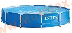 INTEX Бассейн каркасный круглый 366х76 см