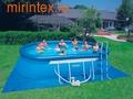 INTEX Бассейн надувной на опорах 549х305х107см (видео, фильтр-насос 220 В, лест., настил, тент)