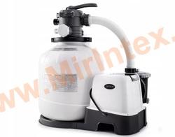 INTEX Песчаный фильтр-насос 220В + хлоргенератор 6 куб/ч